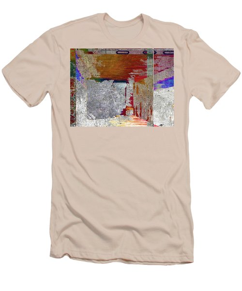 Men's T-Shirt (Slim Fit) featuring the mixed media Name This Piece by Tony Rubino