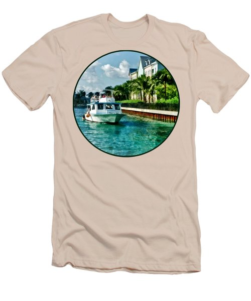Bahamas - Ferry To Paradise Island Men's T-Shirt (Slim Fit) by Susan Savad