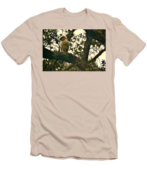 The Golden 'io Hawaiian Hawk Men's T-Shirt (Slim Fit) by Lehua Pekelo-Stearns