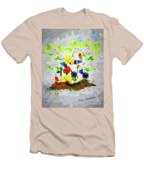 Nature Fantasy Trees Men's T-Shirt (Athletic Fit)