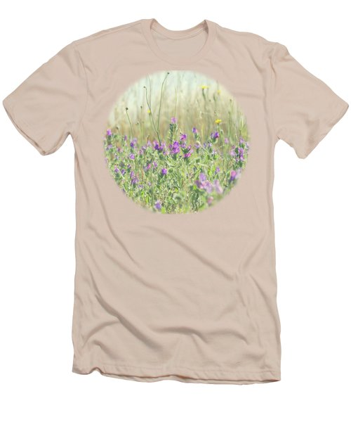 Men's T-Shirt (Slim Fit) featuring the photograph Nature's Graffiti by Linda Lees