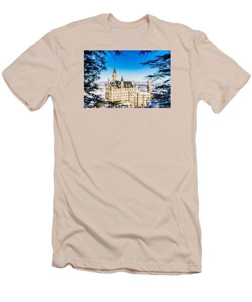 Neuschwanstein Castle Men's T-Shirt (Slim Fit) by Alpha Wanderlust