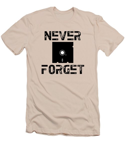 Never Forget Men's T-Shirt (Slim Fit) by Mariel Constantino