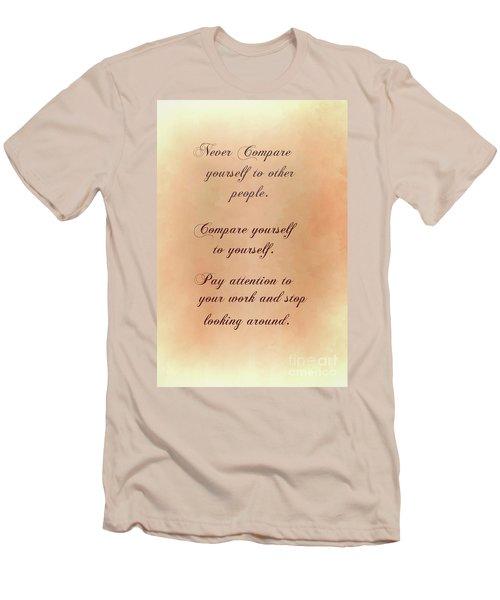 Men's T-Shirt (Slim Fit) featuring the digital art Never by Jim  Hatch