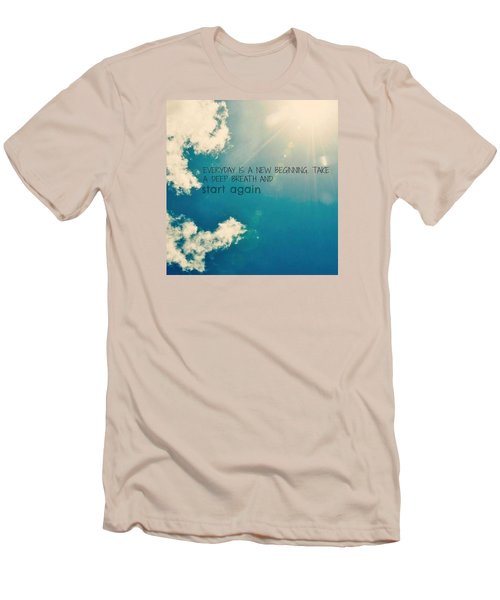 Men's T-Shirt (Slim Fit) featuring the photograph New Beginning by Artists With Autism Inc