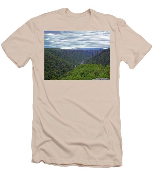New River Bridge Men's T-Shirt (Athletic Fit)