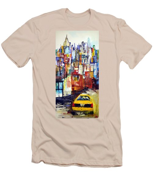 New York Cab Men's T-Shirt (Athletic Fit)