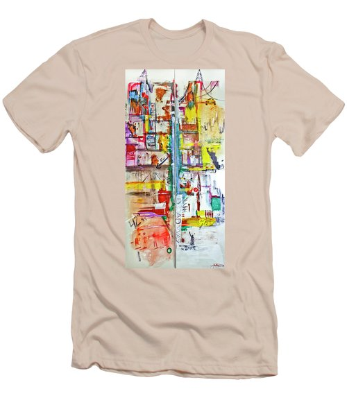 New York City Icons And Symbols Men's T-Shirt (Slim Fit)