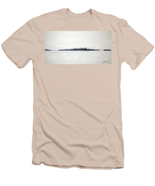 New York City Skyline 48 Men's T-Shirt (Slim Fit)