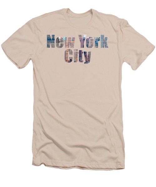 New York Font V2 Men's T-Shirt (Athletic Fit)