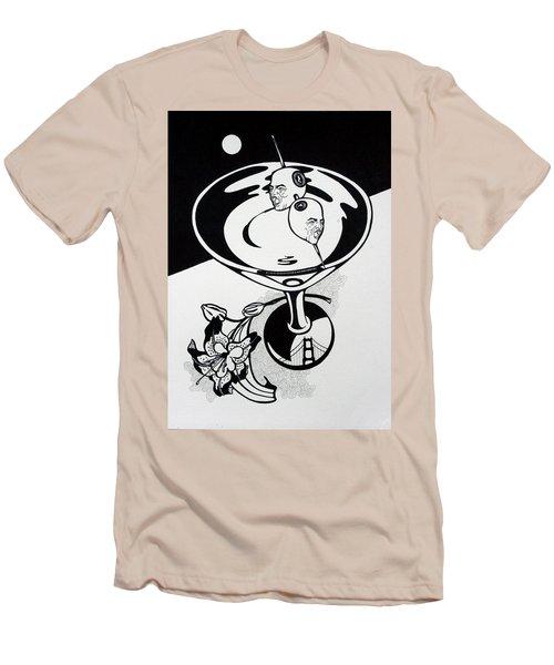 New York Martini Men's T-Shirt (Slim Fit) by Yelena Tylkina