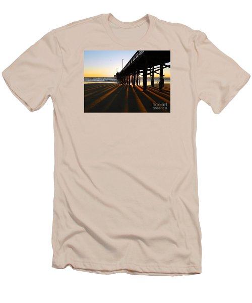 Newport Pier, Newport Beach   Men's T-Shirt (Athletic Fit)