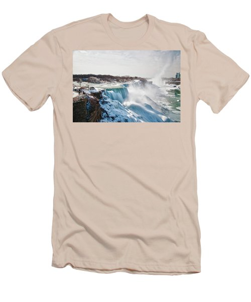 Men's T-Shirt (Slim Fit) featuring the photograph Niagara Falls 4589 by Guy Whiteley
