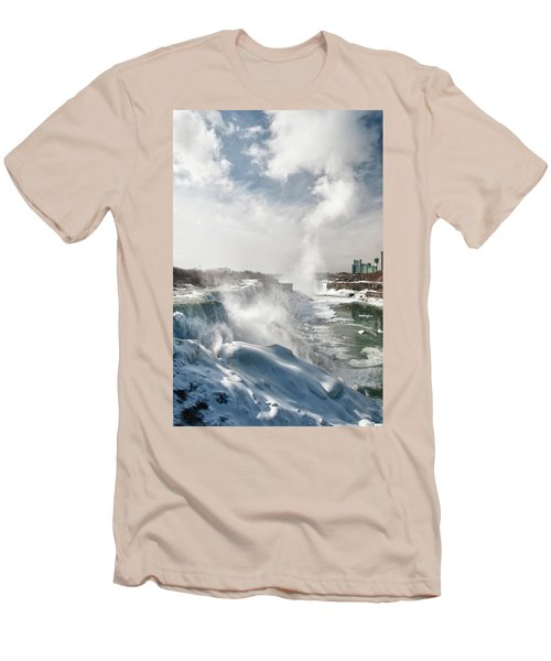 Men's T-Shirt (Slim Fit) featuring the photograph Niagara Falls 4601 by Guy Whiteley