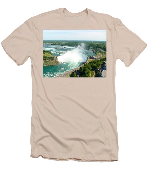 Men's T-Shirt (Athletic Fit) featuring the photograph Niagara Falls Ontario by Charles Kraus