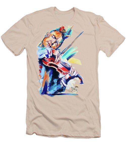 Nigel Kennedy Men's T-Shirt (Slim Fit) by Melanie D