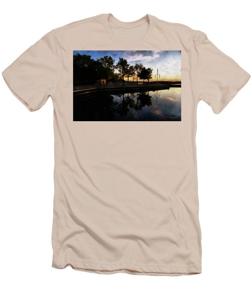 Night Harbour Men's T-Shirt (Athletic Fit)