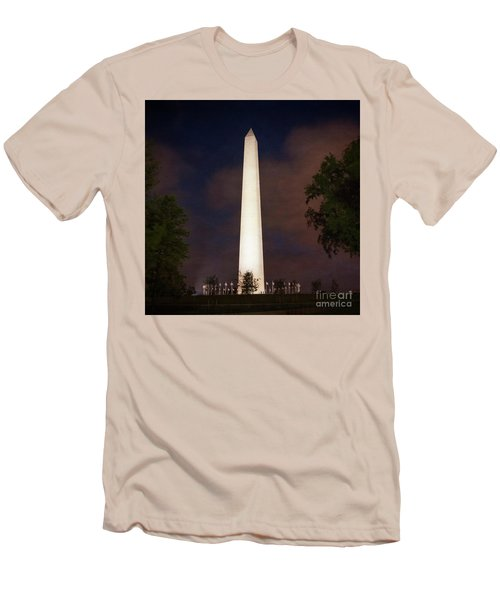 Night Monument Men's T-Shirt (Athletic Fit)