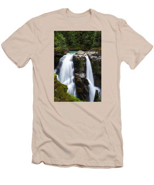 Nooksack Falls Men's T-Shirt (Slim Fit) by Ryan Manuel