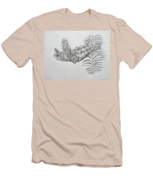 Men's T-Shirt (Slim Fit) featuring the drawing Norman by Mayhem Mediums
