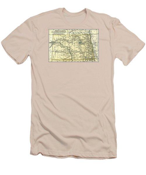 North Dakota Antique Map 1891 Men's T-Shirt (Athletic Fit)