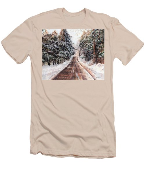 Northeast Winter Men's T-Shirt (Slim Fit) by Shana Rowe Jackson