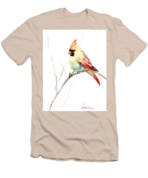 Northern Cardinal,female Men's T-Shirt (Athletic Fit)