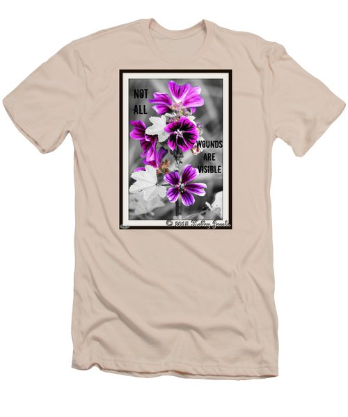 Men's T-Shirt (Slim Fit) featuring the digital art Not All Wounds by Holley Jacobs