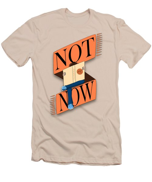 Not Now, I'm Reading Men's T-Shirt (Athletic Fit)