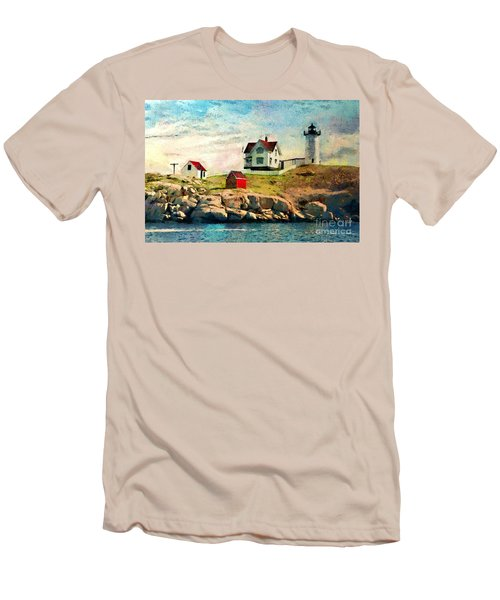 Nubble Light - Painted Men's T-Shirt (Athletic Fit)