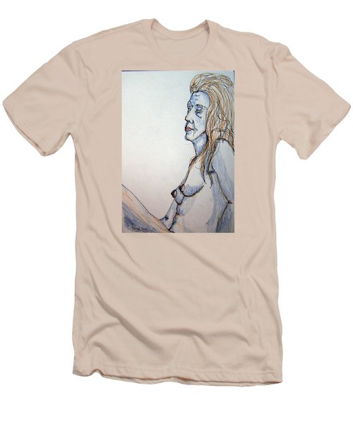 Nude With Blues Men's T-Shirt (Slim Fit) by Rand Swift