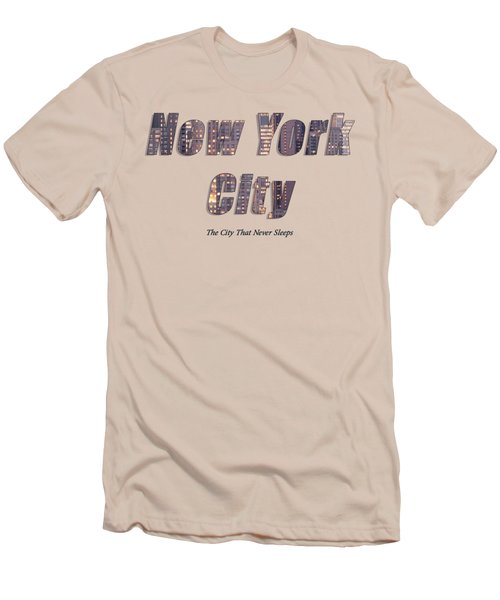 Nyc T-shirt Men's T-Shirt (Athletic Fit)