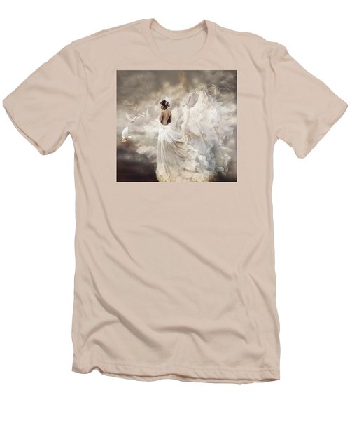Nymph Of The Sky Men's T-Shirt (Slim Fit) by Lilia D