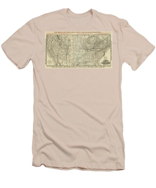 O And M Map Men's T-Shirt (Athletic Fit)