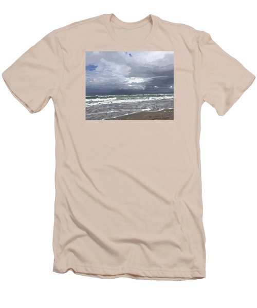 Ocean And Clouds Over Beach At Hobe Sound Men's T-Shirt (Athletic Fit)