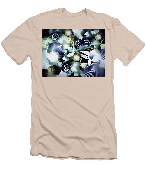 Men's T-Shirt (Athletic Fit) featuring the mixed media Ocean Gems 21 by Lynda Lehmann