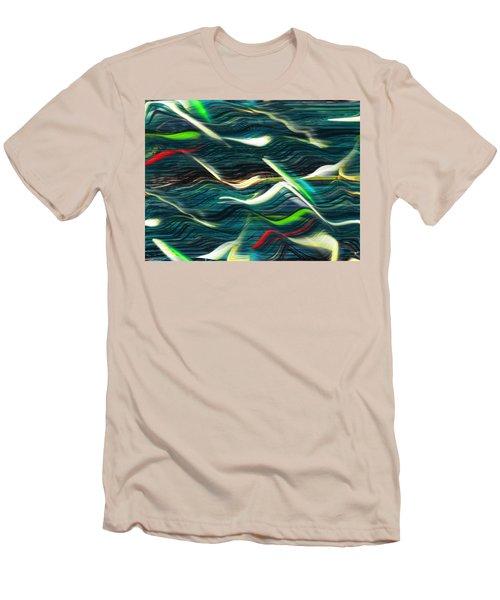 Ocean Run 2 Men's T-Shirt (Slim Fit) by Yul Olaivar