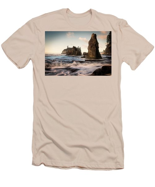 Men's T-Shirt (Slim Fit) featuring the photograph Ocean Spire Signature Series by Chris McKenna