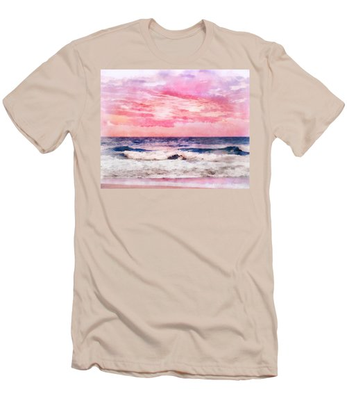 Ocean Sunrise Men's T-Shirt (Slim Fit) by Francesa Miller