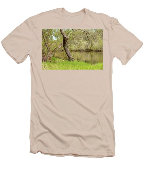 Men's T-Shirt (Slim Fit) featuring the photograph Oceano Lagoon by Art Block Collections