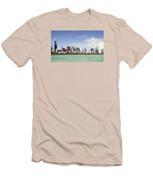 Off The Shore Of Chicago Men's T-Shirt (Slim Fit) by Ricky L Jones