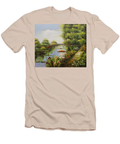 Oil Msc 038 Men's T-Shirt (Slim Fit) by Mario Sergio Calzi