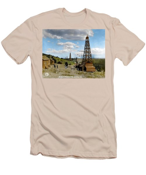 Men's T-Shirt (Athletic Fit) featuring the photograph Oil Well by Granger