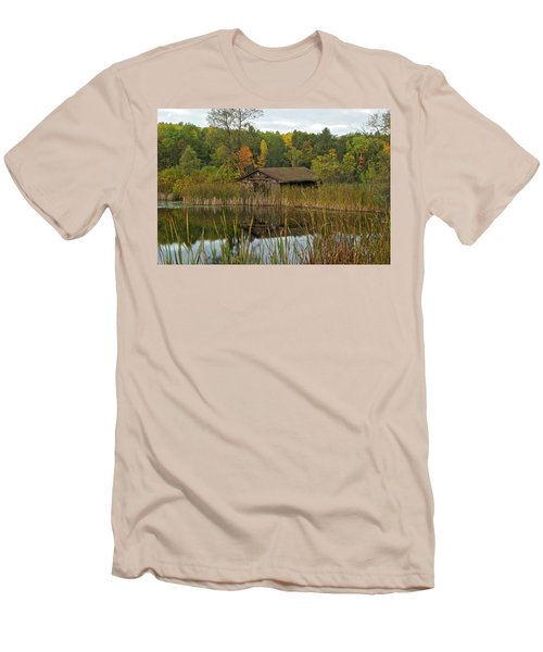 Old Bait Shop On Twin Lake_9626 Men's T-Shirt (Slim Fit) by Michael Peychich