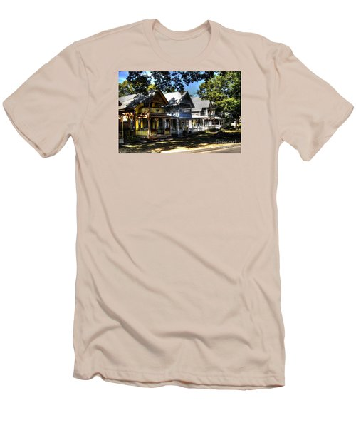 Old Homes Martha's Vineyard Men's T-Shirt (Slim Fit) by Donald Williams