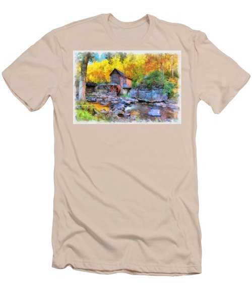 Old Mill Aquarelle Men's T-Shirt (Athletic Fit)