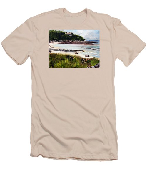 Old Silver Beach Falmouth Men's T-Shirt (Slim Fit)