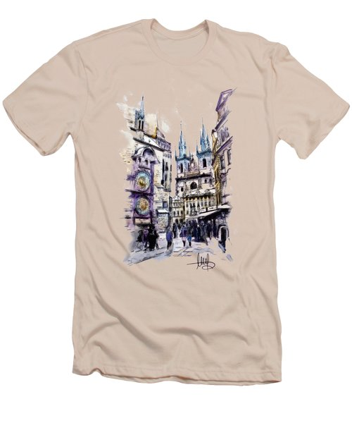 Old Town Square In Prague Men's T-Shirt (Athletic Fit)
