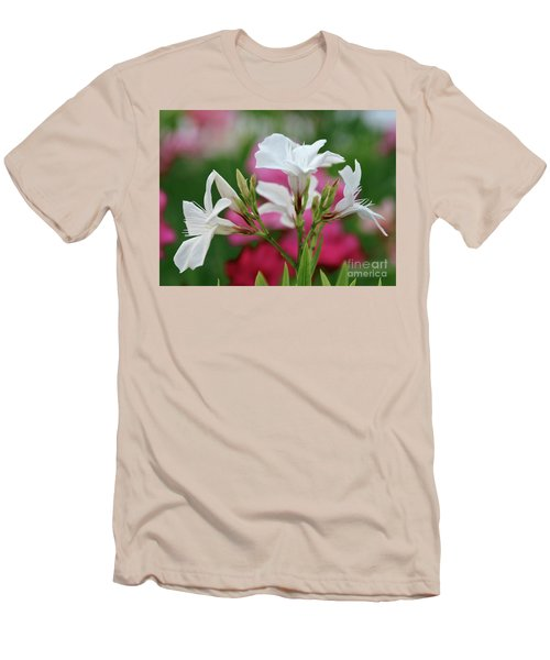 Men's T-Shirt (Slim Fit) featuring the photograph Oleander Casablanca 1 by Wilhelm Hufnagl