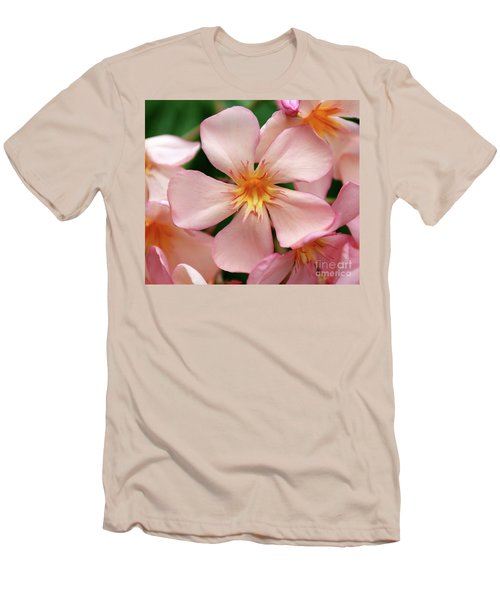 Men's T-Shirt (Slim Fit) featuring the photograph Oleander Dr. Ragioneri 1 by Wilhelm Hufnagl